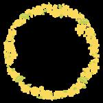 サークル状の花や植物のフレーム・飾り枠のイラスト