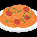 ナポリタン(スパゲッティ)のイラスト