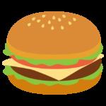 チーズバーガーのイラスト