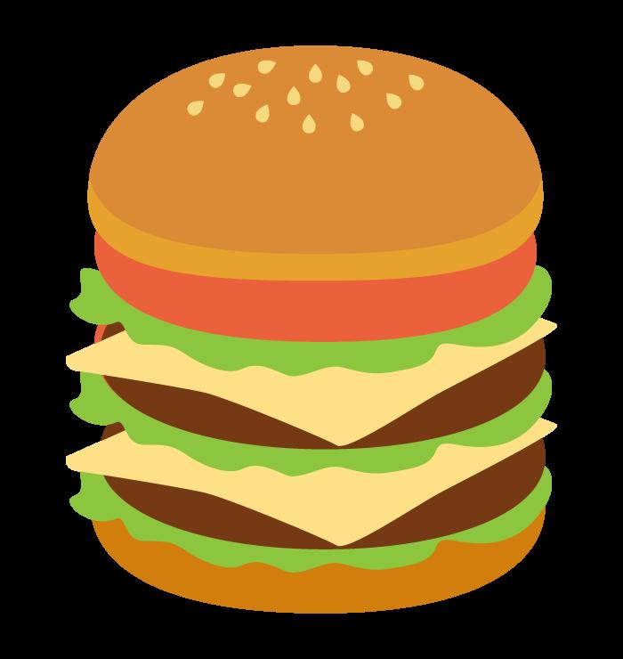 ダブルチーズバーガーのイラスト