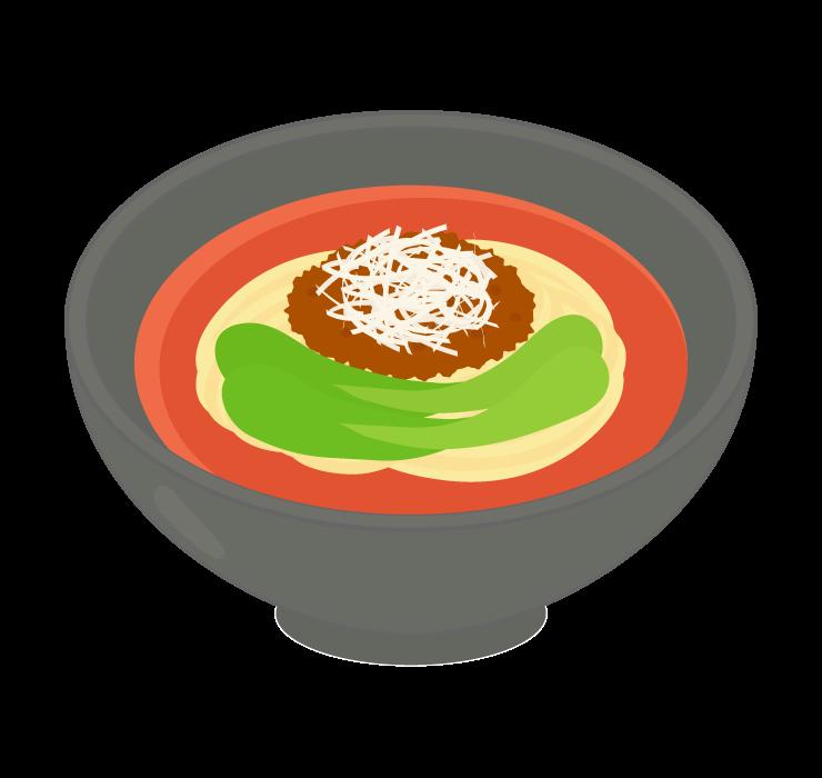担々麺のイラスト