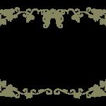 葡萄と蔦のシンプルなフレーム・飾り枠のイラスト