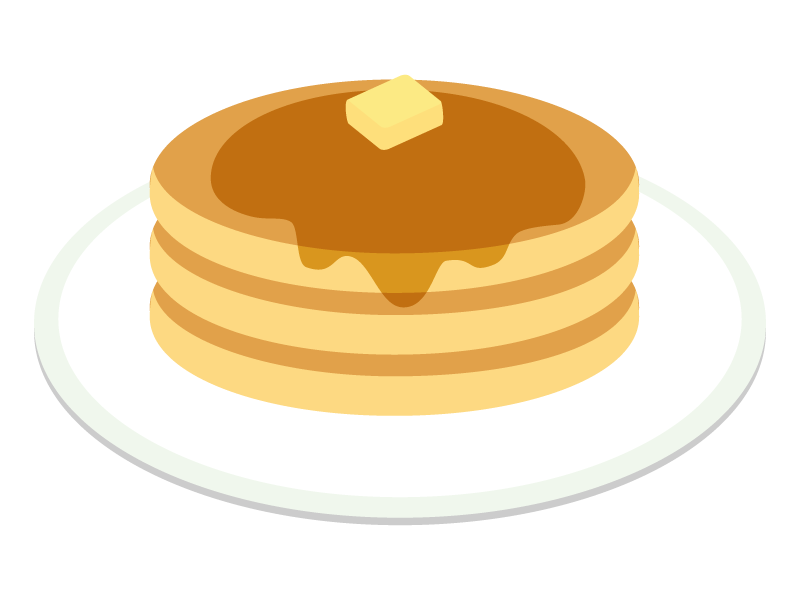 パンケーキのイラスト