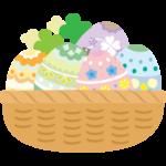籠盛りのイースターエッグのイラスト02