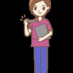体温計と看護師(女性)さんのイラスト