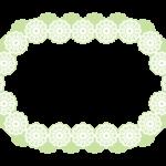 楕円形のレースのフレーム・飾り枠のイラスト
