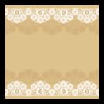 白と茶色のレースのフレーム・飾り枠のイラスト
