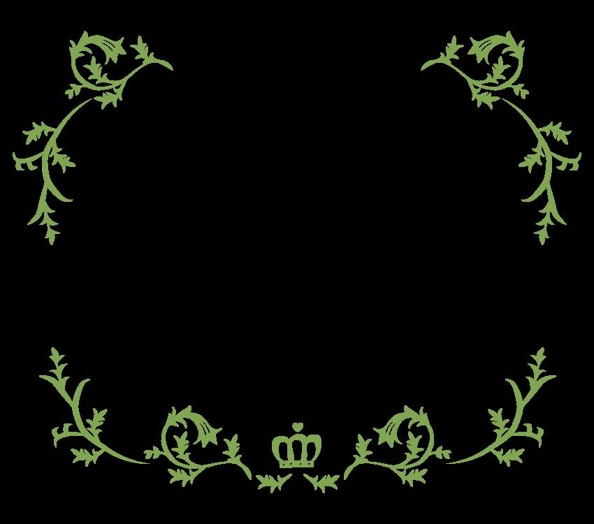 シンプルな蔦のフレーム・飾り枠のイラスト