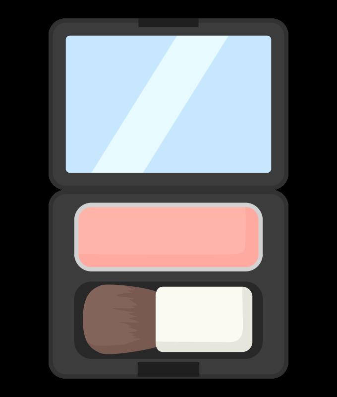 お化粧・チークのイラスト
