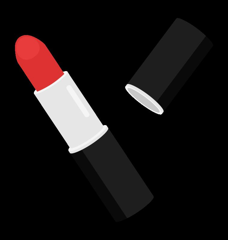 真っ赤なリップ・口紅のイラスト