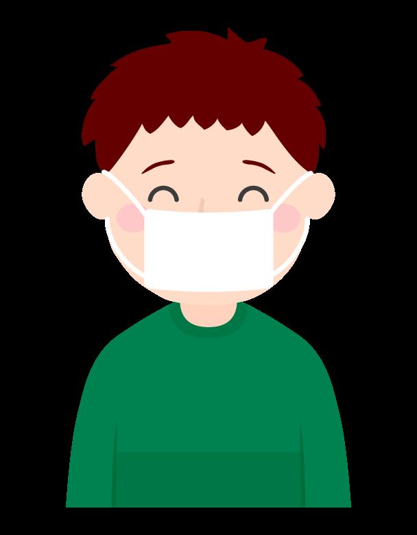 マスクをする男の子のイラスト