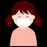 マスクをする女の子のイラスト