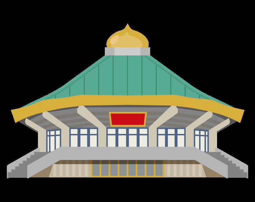 日本武道館のイラスト