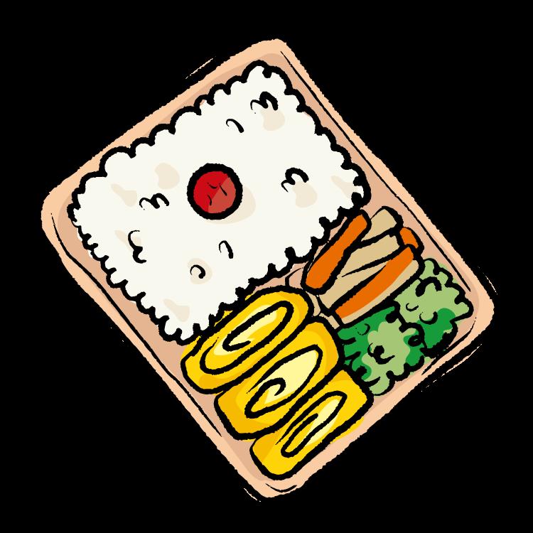 手書き風のお弁当のイラスト