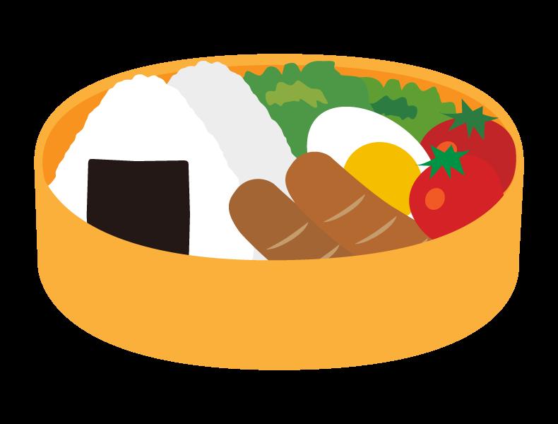 ランチのお弁当のイラスト