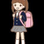 小学校入学・一年生の女の子のイラスト