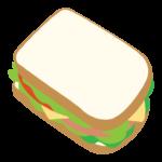 食パンのサンドウィッチのイラスト