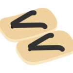 雪駄・草履のイラスト