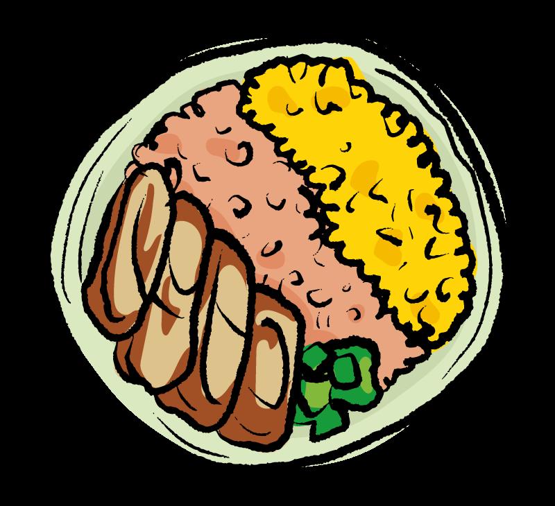 手書き風の鶏そぼろ弁当のイラスト