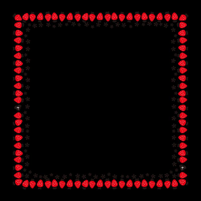 苺のフレーム・飾り枠のイラスト