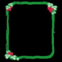 苺と蔦のフレーム・飾り枠のイラスト