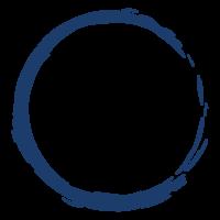 筆で書いた和風の丸のフレーム・飾り枠のイラスト