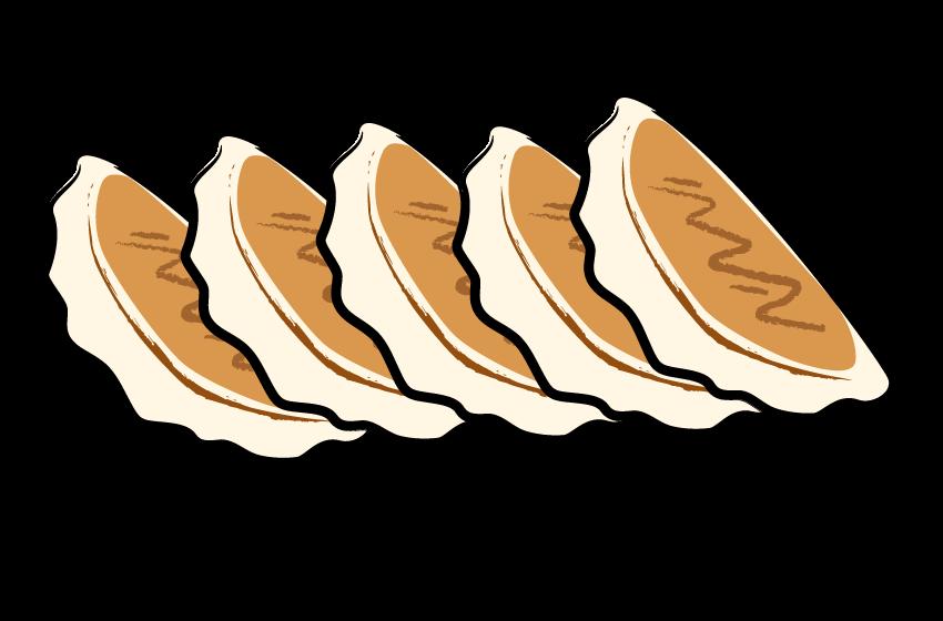 手書き風の餃子のイラスト