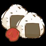 手書き風の梅おにぎりのイラスト