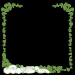 手書き風の野菜と蔦のフレーム・飾り枠のイラスト