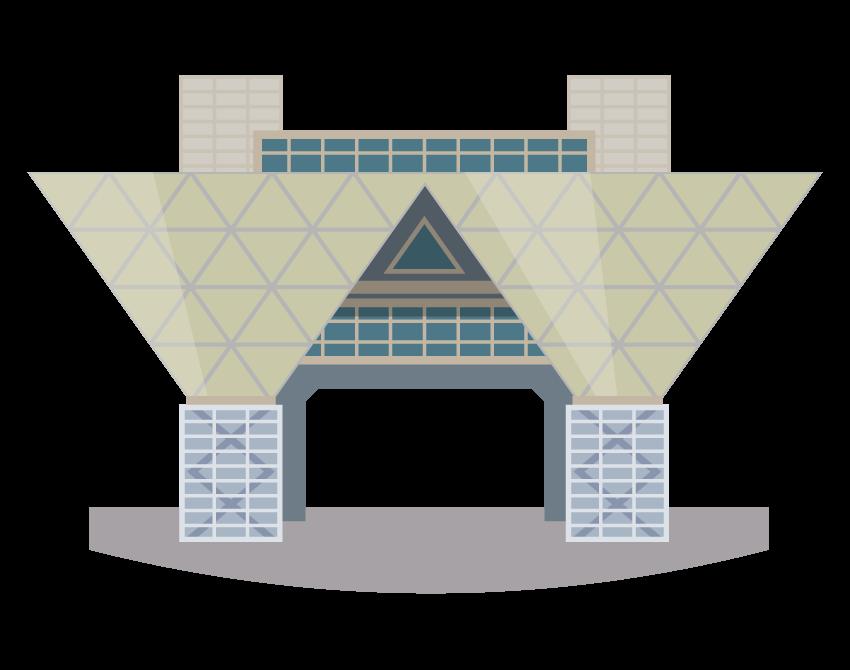東京ビッグサイトのイラスト