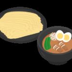 大盛のつけ麺のイラスト