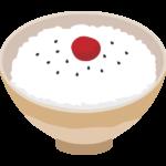 梅干しご飯のイラスト