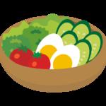 生野菜サラダのイラスト
