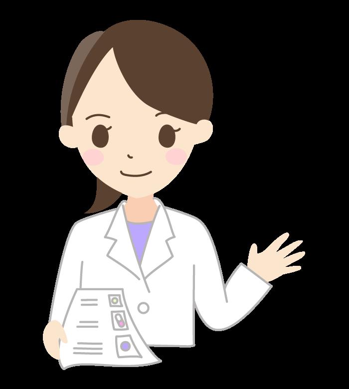薬剤師(女性)のイラスト