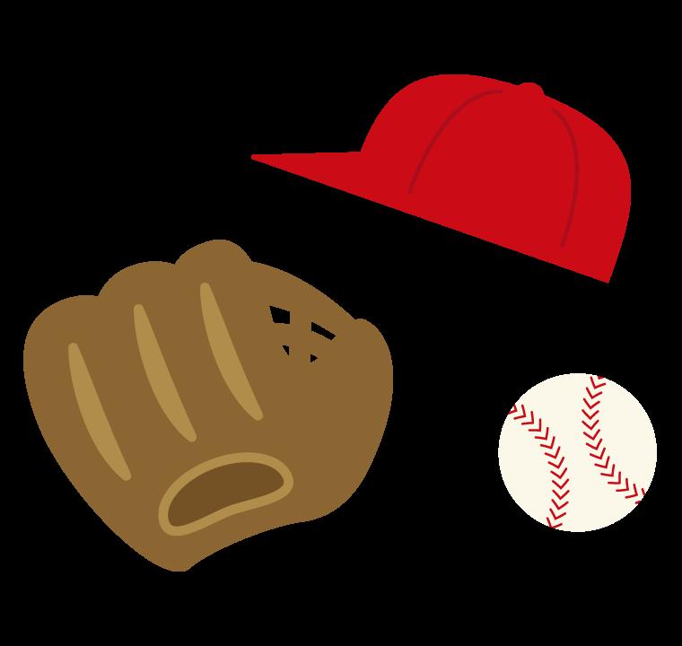 野球帽やグローブのイラスト