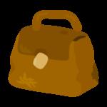 使い古されたバッグのイラスト