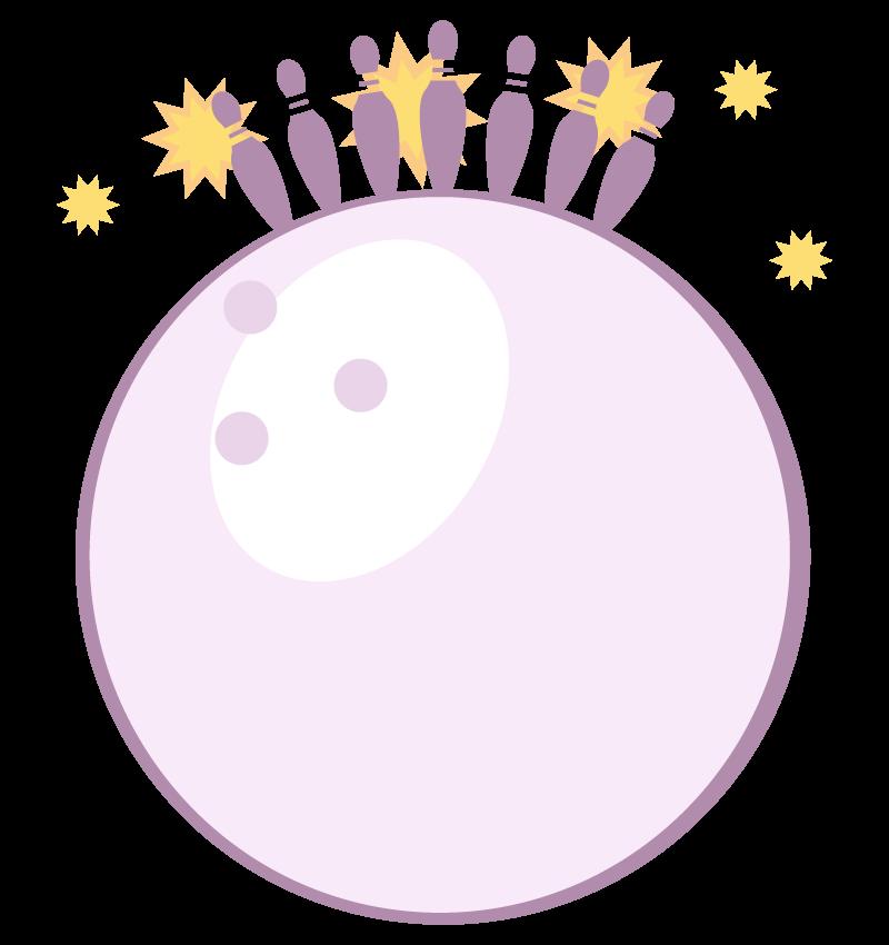 ボーリングの玉のフレーム・飾り枠のイラスト