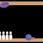 ボウリングのフレーム・飾り枠のイラスト