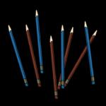 たくさんの鉛筆のイラスト