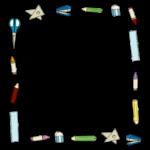 文房具のフレーム・飾り枠のイラスト
