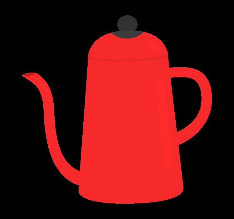 真っ赤なポットのイラスト