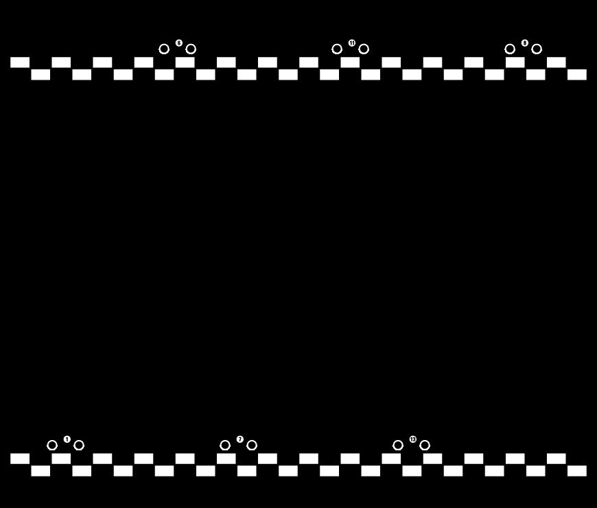 かわいい車の白黒フレーム・飾り枠のイラスト