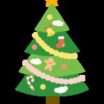 シンプルでかわいいクリスマスツリーのイラスト