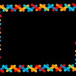カラフルな線を組み合わせたフレーム・飾り枠のイラスト