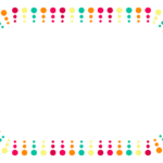 カラフルな丸のデザインのフレーム・飾り枠のイラスト