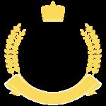 王冠と月桂樹のフレーム・飾り枠のイラスト