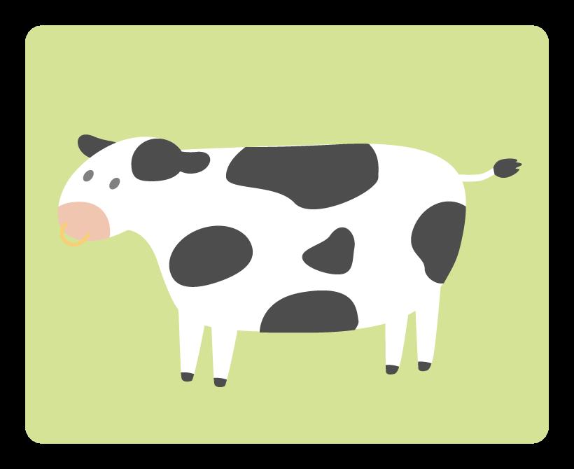シンプルな牛のイラスト