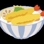 海老天丼のイラスト
