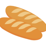 フランスパンのイラスト