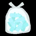 ごみ袋に入ったペットボトルのイラスト